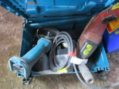 MAKITA BATTERY ANGLE GRINDER AND HILTI 110VOLT DRILL, CONDITION UNKNOWN