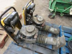 2 X YELLOW TOP WHACKER NEUSON TRENCH COMPACTORS, CONDITION UNKNOWN