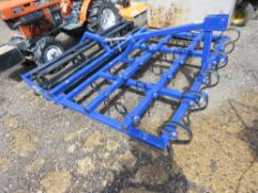 TRACTOR MOUNTED MENAGE LEVELLER WITH REAR CRUMBLER, 6FT WIDE APPROX. UNUSED.