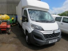 CITROEN LUTON 3500KG RATED VAN WITH TAIL LIFT, REG:PO66 DZG. WITH V5. TEST TILL 13/10/2021. FIRST RE