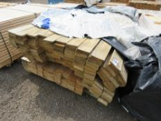 STACK OF FLAT AND HIT AND MISS CLADDING BOARDS. 1.74M LENGTH APPROX.