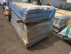 2 X BUNDLES OF UNTREATED HIT AND MISS TIMBER CLADDING BOARDS. 9.5CM X 1.74M APPROX.