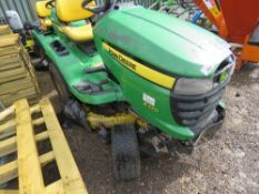 JOHN DEERE X320 PROFESSIONAL RIDE ON PWETROL MOWER. PREVIOUS COUNCIL USEAGE. STRAIGHT FROM STORAGE,