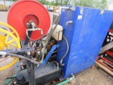 4 CYLINDER DIESEL ENGINED HIGH PRESSURE WASHER/JETTING MACHINE. UNTESTED, CONDITION UNKNOWN.