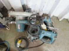 4 X POWER TOOLS: 3 X JIGSAWS PLUS 1 X CIRCULAR SAW. UNTESTED, CONDITION UNKNOWN.