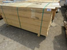 PACK OF HIT AND MISS UNTREATED FENCE CLADDING BOARDS 9CM X 1.74M APPROX.