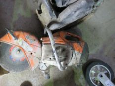 STIHL TS410 PETROL ENGINED CUT OFF SAW. UNTESTED, CONDITION UNKNOWN.