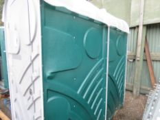 PORTABLE SHOWER UNIT, REQUIRES SOME ATTENTION. WITH A WATER HEATER UNIT (REQUIRES CERTIFICATION BEFO