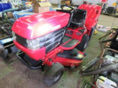 WESTWOOD T1800 PETROL ENGINED RIDE ON MOWER WITH COLLECTOR. WHEN TESTED WAS SEEN TO RUN DRIVE