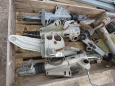 6 X PRE USED TRAILER HITCH ASSEMBLIES.