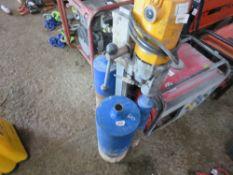 110VOLT CORE DRILL ON STAND WITH 3 X CORE DITS. SOURCED FROM COMPANY LIQUIDATION.