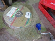 18 X CUTTING DISCS 230MM SIZE INOX & METAL TYPE