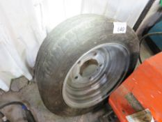 IFOR WILLIAMS TYPE 5 STUD TRAILER WHEEL AND TYRE 195-50R13C. SOURCED FROM COMPANY LIQUIDATION.