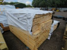 PACK OF UNTREATED TIMBER FENCE RAILS, 1.73M LENGTH X 45MM X 16MM WIDTH APPROX.