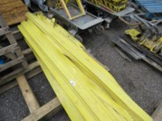 YELLOW CABLE DUCTS.