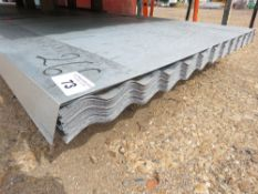 PACK OF 100NO 10FT CORRUGATED ROOFING SHEETS.