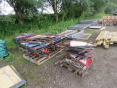 3 X PALLETS OF ASSORTED METAL ROAD SIGNS.