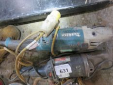 2 X ANGLE GRINDERS, 240V AND 110VOLT. SOURCED FROM COMPANY LIQUIDATION.