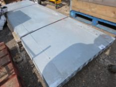 PACK OF 50 X 10FT LENGTH APPROX GALVANISED CORRUGATED ROOF SHEETS, 26G. 90cm wide.