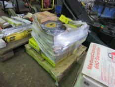 PALLET OF CUTTING AND GRINDING DISCS. RETIREMENT SALE