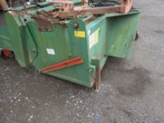SUTON / GURNEY REEVE 2.2M WIDE HYDRAULIC POWERED YARD BRUSH WITH COLLECTOR AND GUTTER BRUSH. YEAR 20