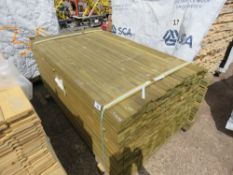 PACK OF TREATED TIMBER FENCE RAILS, 1.72M LENGTH X 45MM X16MM WIDTH APPROX.