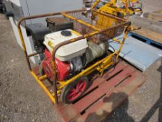 HYDROVANE PETROL ENGINED COMPRESSOR, UNTESTED, CONDITION UNKNOWN.