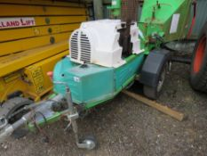 GREENMECH EC150/30 TOWED CHIPPER, POWERED BY DEUTZ AIR COOLED ENGINE. SN:1343M. WHEN TESTED WAS SEE