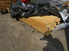 UNTREATED SAWN TIMBER SLATS 50MM X 25MM @1.74M LENGTH APPROX.