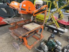 CLIPPER CM501 PETROL ENGINED SLAB CUTTING SAWBENCH. WHEN TESTED WAS SEEN TO TURN OVER BUT NOT STARTI