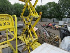 BOSS X3 SCISSOR LIFT PLATFORM, WHEN TESTED WAS SEEN TO LIFT AND LOWER.
