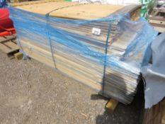 PACK OF SHIPLAP UNTREATED TIMBER 10CM WIDE, 1.55-1.65M LENGTH APPROX.
