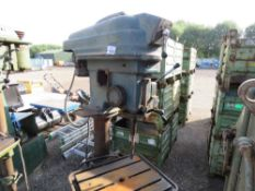 3 PHASE PILLAR DRILL WITH SOME BITS ETC. SOURCED FROM WORKSHOP CLOSURE/LIQUIDATION.