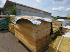 PACK OF UNTREATED HIT AND MISS TIMBER FENCE CLADDING, 1.74M LENGTH X 95MM WIDTH APPROX.