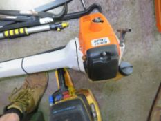 STIHL TS400 PETROL BRUSH CUTTER WITH A BLADE. HANDLEBAR FIXING NEEDS ATTENTION. SOLD AS UNTESTED,CON