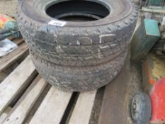 2 X COMMERCIAL 215/70R15 TYRES. SOURCED FROM MAJOR ROAD CONTRACTOR.