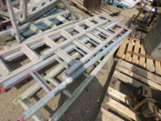 5 x aluminium scaffold tower ladders, 5-8 foot approx