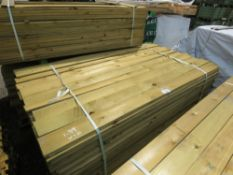PACK OF TREATED FEATHER EDGE TIMBER FENCE CLADDING, 1.79M LENGTH X 100MM WIDTH APPROX.
