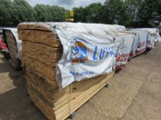 PACK OF UNTREATED SHIPLAP TIMBER FENCE CLADDING, 1.72M LENGTH X 95MM WIDTH APPROX.