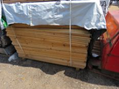 """LARGE PACK OF UNTREATED """"H"""" PROFILE FENCING TIMBERS, 55MM X 35MM X 1.75M LENGTH APPROX."""