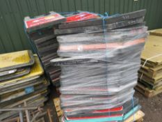 2 X PALLETS OF ASSORTED PLASTIC ROAD SIGNS, APPROX 75NO IN TOTAL.
