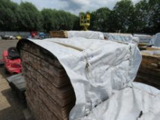 PACK OF UNTREATED SHIPLAP TIMBER FENCE CLADDING, 1.42M LENGTH X 95MM WIDTH APPROX.