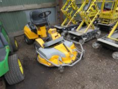 """STIGA PARK OUTFRONT RIDE ON DIESEL ENGINED MOWER. 43"""" WIDE DECK APPROX. WHEN TESTED WAS SEEN TO DRIV"""