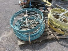 2 X BLUE CABLE RODDING REELS.