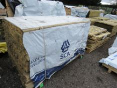 PACK OF UNTREATED TIMBER FENCE RAILS, 1.83M LENGTH X 45MM X 16MM WIDTH APPROX.