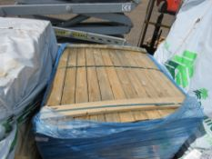 PACK OF UNTREATED SHIPLAP FENCING TIMBERS, 1.11M LENGTH X 10CM WIDTH APPROX.