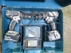 2 X MAKITA BATTERY DRILL SETS. UNTESTED, CONDITION UNKNOWN.