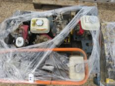 PALLET OF COMPACTION PLATE ENGINES AND PARTS.