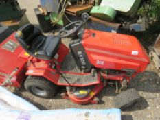 WESTWOOD S1300 RIDE ON MOWER WITH COLLECTOR. FROM LIMITED TESTING: STARTED WITH JUMP START, MOWER EN