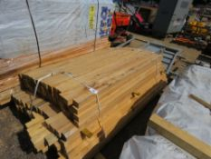 SMALL PACK OF 55MM X 40MM UNTREATED TIMBER @1.5-1.8M LENGTH APPROX.